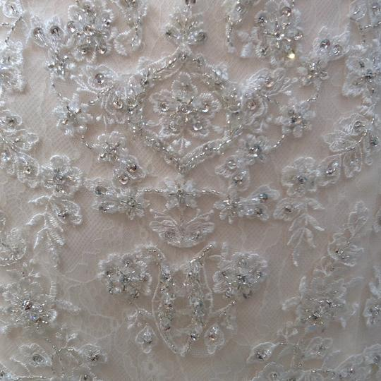 Fiore Couture Ivory/Baby Pink Lace/Tulle Nadine Traditional Wedding Dress Size 8 (M) Image 3