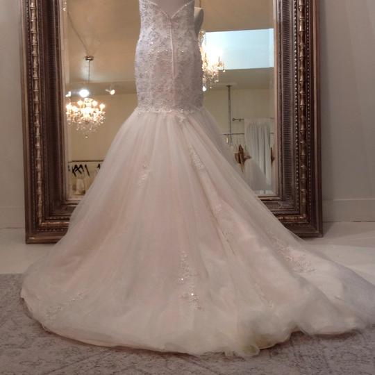 Fiore Couture Ivory/Baby Pink Lace/Tulle Nadine Traditional Wedding Dress Size 8 (M) Image 4