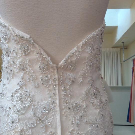 Fiore Couture Ivory/Baby Pink Lace/Tulle Nadine Traditional Wedding Dress Size 8 (M) Image 5