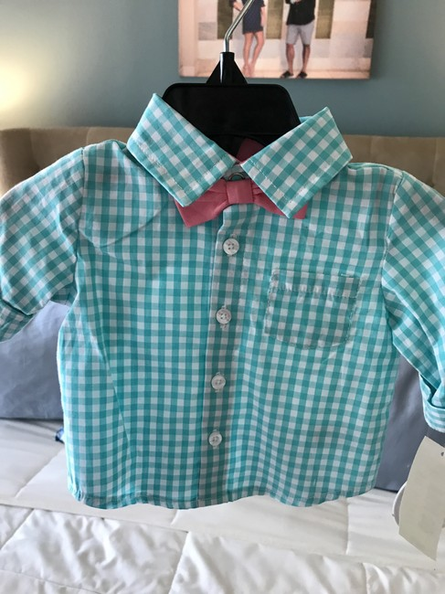 EDGEHILL Button Down Shirt Blue, white and pink Image 2