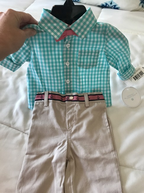 EDGEHILL Button Down Shirt Blue, white and pink Image 3