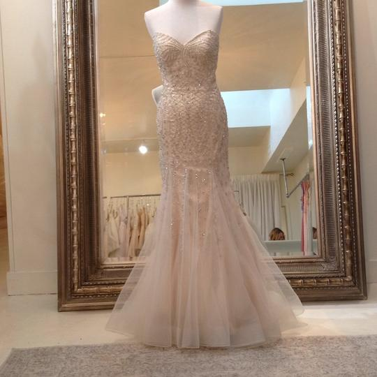 Fiore Couture Gold/Ivory Tulle/Beading Jackie Modern Wedding Dress Size 8 (M) Image 1