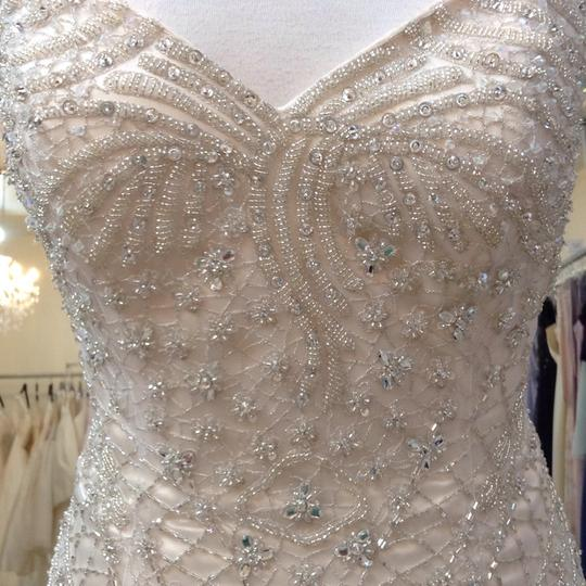 Fiore Couture Gold/Ivory Tulle/Beading Jackie Modern Wedding Dress Size 8 (M) Image 2