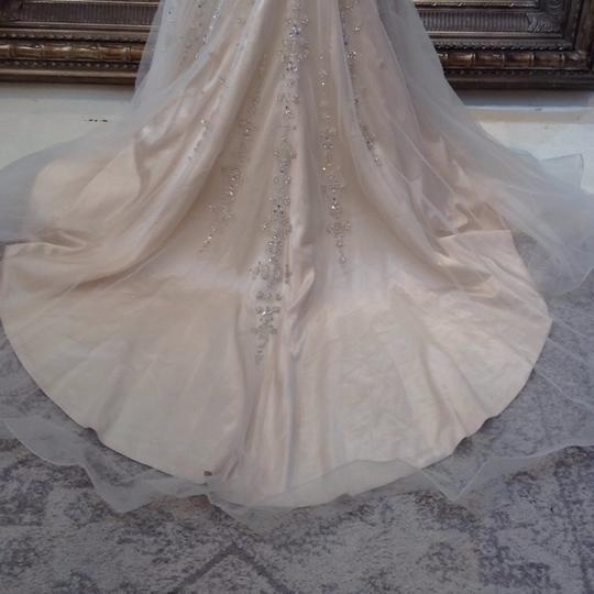 Fiore Couture Gold/Ivory Tulle/Beading Jackie Modern Wedding Dress Size 8 (M) Image 8