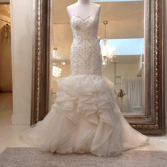 Fiore Couture Ivory Lace/Organza Natalie Modern Wedding Dress Size 8 (M) Image 1