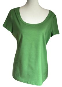 Lafayette 148 New York T-shirt Scoop Neck T Shirt Apple Green