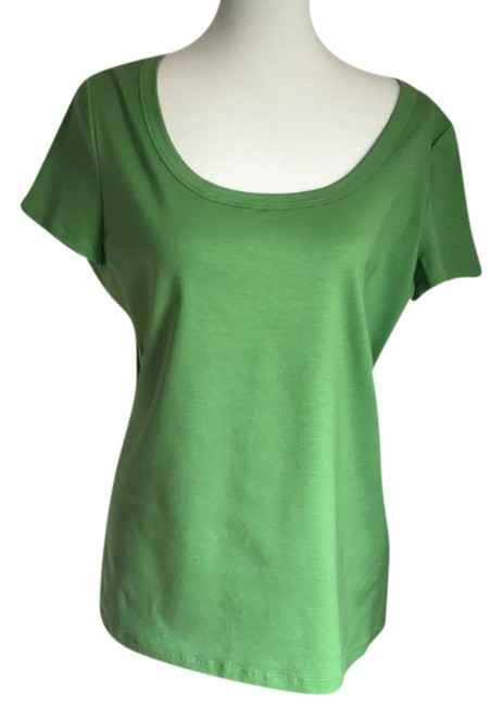 Preload https://img-static.tradesy.com/item/22051301/lafayette-148-new-york-apple-green-stretch-cotton-scoop-neck-tee-shirt-size-16-xl-plus-0x-0-1-650-650.jpg