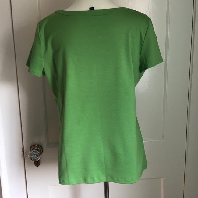 Lafayette 148 New York T-shirt Scoop Neck T Shirt Apple Green Image 1