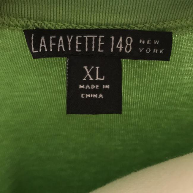 Lafayette 148 New York T-shirt Scoop Neck T Shirt Apple Green Image 3