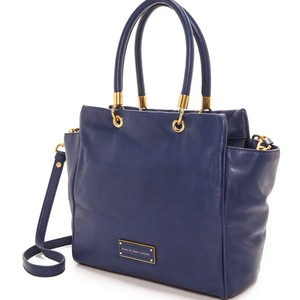 Marc by Marc Jacobs Too Hot To Handle Bentley Vintage Leather Tote in Blue