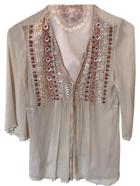 Preload https://img-static.tradesy.com/item/22051345/gold-hawk-beige-embroidered-blouse-size-4-s-0-1-650-650.jpg