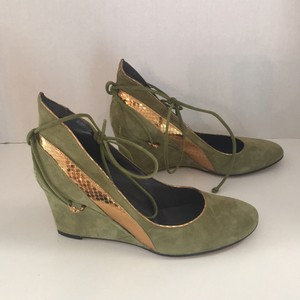 Georgina Goodman green/metallic gold Wedges