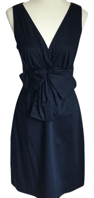 Preload https://img-static.tradesy.com/item/22051470/kate-spade-navy-bow-front-short-casual-dress-size-6-s-0-1-650-650.jpg