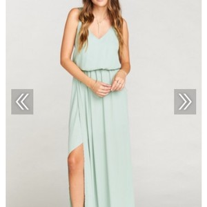 Show Me Your Mumu Dusty Mint Crisp Kendall Destination Bridesmaid/Mob Dress Size 8 (M)