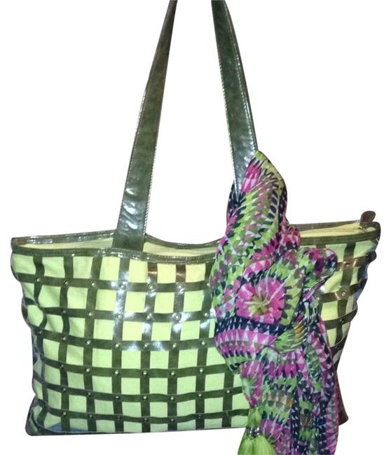 Item - Army Green Faux Leather Beach Bag