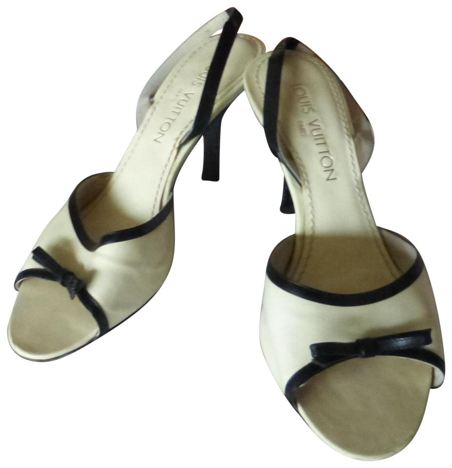 9b0a737b5e3 Louis Vuitton OFF-WHITE LEATHER WITH BLACK LEATHER TRIM Sandals Image 0 ...