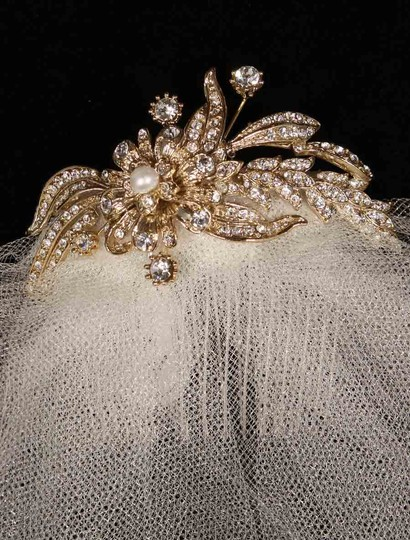 Homa Bridal Ivory and Gold 616-f Fascinator Hair Accessory Image 1