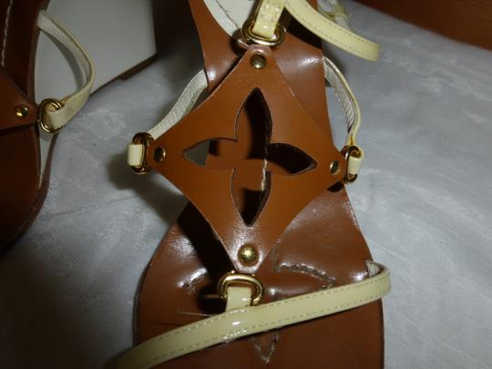 Louis Vuitton WHITE & BROWN Wedges Image 1