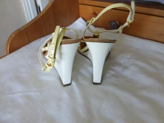 Louis Vuitton WHITE & BROWN Wedges Image 5