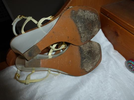Louis Vuitton WHITE & BROWN Wedges Image 7