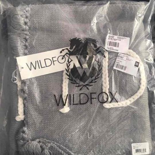 Wildfox NWT Nap Time Chainlink Gray I'd Rather Be Napping Long Fringe Scarf Image 3