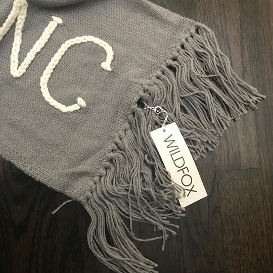 Wildfox NWT Nap Time Chainlink Gray I'd Rather Be Napping Long Fringe Scarf Image 5