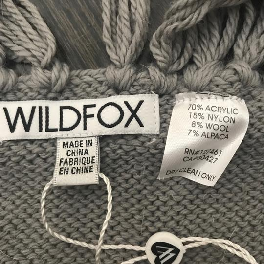 Wildfox NWT Nap Time Chainlink Gray I'd Rather Be Napping Long Fringe Scarf Image 7