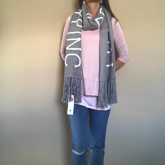 Wildfox NWT Nap Time Chainlink Gray I'd Rather Be Napping Long Fringe Scarf Image 9