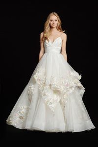 Hayley Paige Ivory/Multi Colored Taffeta Tulle 6601 Modern Wedding Dress Size 8 (M)