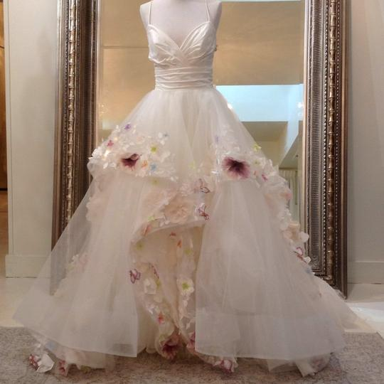 Hayley Paige Ivory/Multi Colored Taffeta Tulle 6601 Modern Wedding Dress Size 8 (M) Image 1
