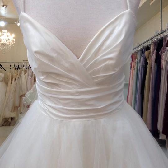 Hayley Paige Ivory/Multi Colored Taffeta Tulle 6601 Modern Wedding Dress Size 8 (M) Image 2