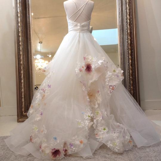Hayley Paige Ivory/Multi Colored Taffeta Tulle 6601 Modern Wedding Dress Size 8 (M) Image 5