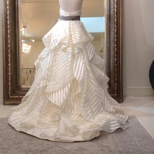 Hayley Paige Ivory/Taupe Organza Guindon 6315 Traditional Wedding Dress Size 8 (M) Image 1