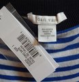 Joan Vass Mixed Stripes Dolman Sleeves Boatneck Button Sides Ribbed Hem Sweater Image 5