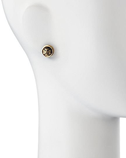 Tory Burch NEW TORY BURCH signature Melodie gold logo stud earring with dust bag Image 1