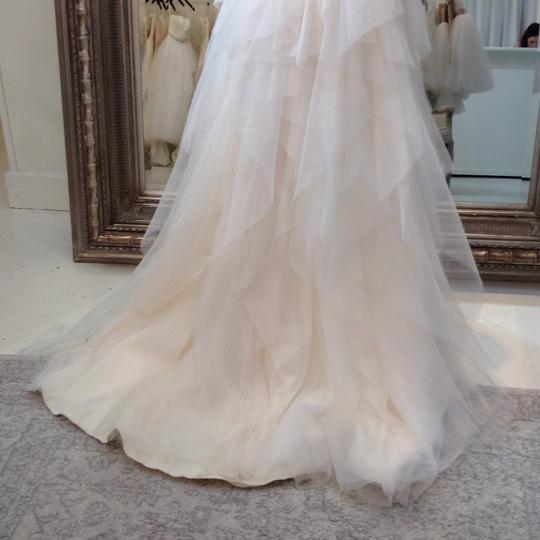 Hayley Paige Ivory English Net/Tulle Carrie 6350 Modern Wedding Dress Size 8 (M) Image 10