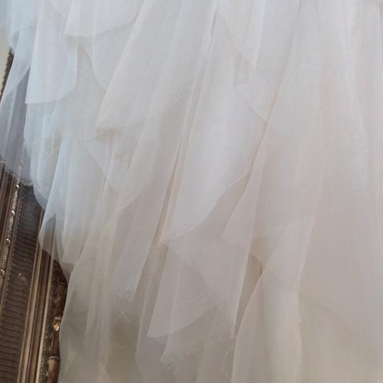 Hayley Paige Ivory English Net/Tulle Carrie 6350 Modern Wedding Dress Size 8 (M) Image 11