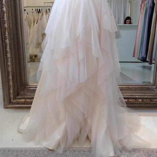 Hayley Paige Ivory English Net/Tulle Carrie 6350 Modern Wedding Dress Size 8 (M) Image 6