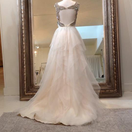 Hayley Paige Ivory English Net/Tulle Carrie 6350 Modern Wedding Dress Size 8 (M) Image 7
