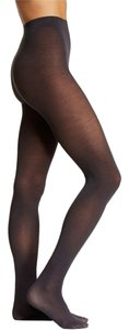 French Curve Cashmere Blend Charcoal Tights - M/L