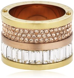 Michael Kors size 6 NWT MICHAEL KORS Pave Barrel Ring MKJ1907931