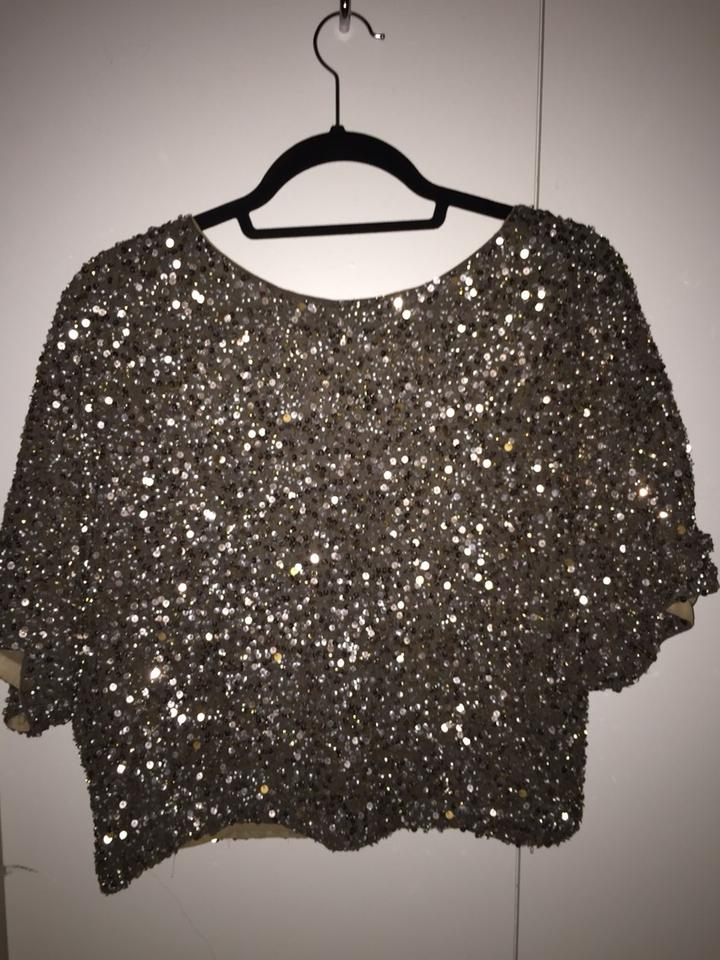 f5809af233fdf Vince Gold Sequin Blouse Size 0 (XS) - Tradesy