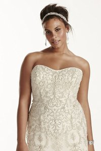 Oleg Cassini Ivory 8cwg706 Destination Wedding Dress Size 18 (XL, Plus 0x)