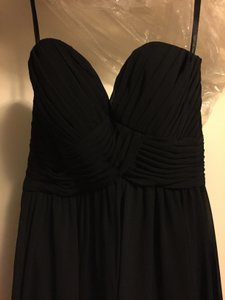 Mori Lee Black Polyester 671 Formal Bridesmaid/Mob Dress Size 4 (S)