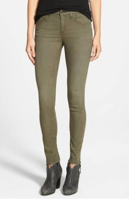 """Item - Olive Green Distressed """"The Fatigue Nwot Rtl Skinny Jeans Size 26 (2, XS)"""