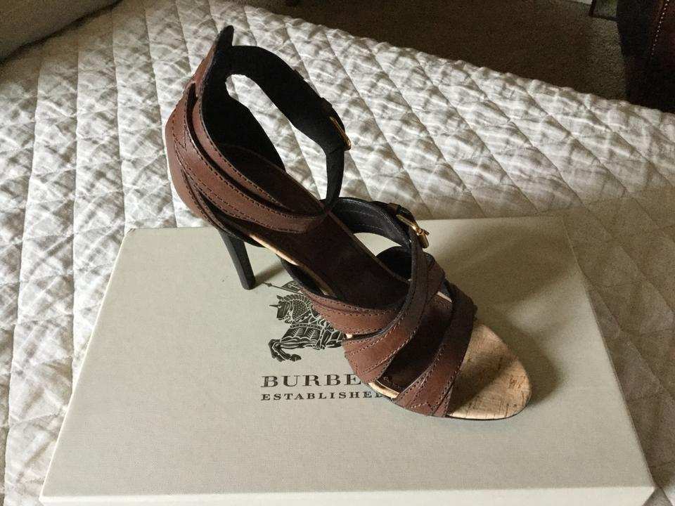 Burberry Brown Women Women Brown Belted Leather Sandals fc6b38