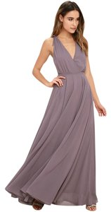 00ece9bd18 Lulu s Dusty Purple Polyester Fully Lined Dance The Night Away Backless Maxi  Feminine Bridesmaid