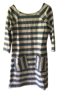 Free People short dress Blue and White Stripe on Tradesy