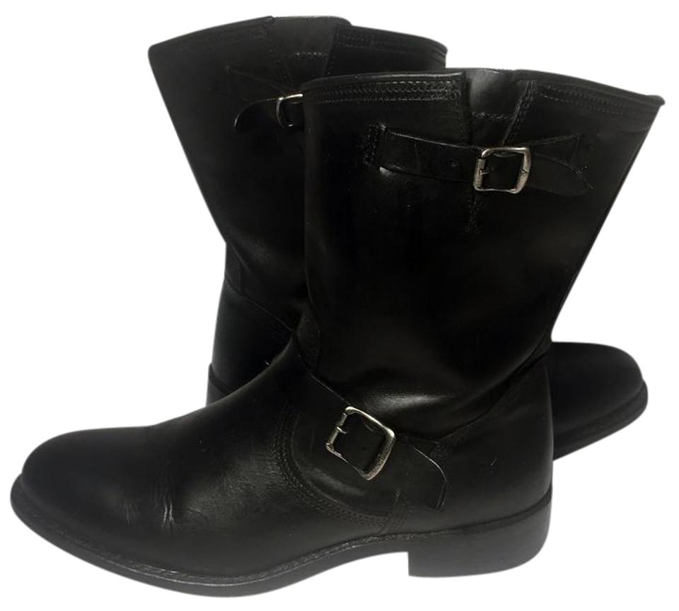 Frye Black 75160 Jet Engineer Short Leather Motorcycle Women Boots ... ad396ee5f