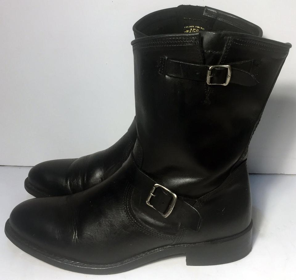 fb43f323197a Frye Black 75160 Jet Engineer Short Leather Motorcycle Women Boots ...